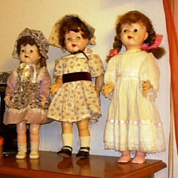 Three of my little girls - Dolls