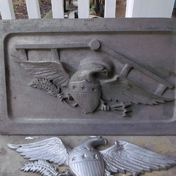 American Eagle Green-Sand casting plate mold - Tools and Hardware