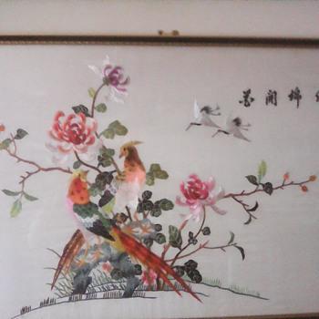 My embroide silk birds  - Asian