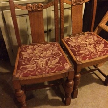 Matching Chairs with Engraving and Numbers  - Furniture