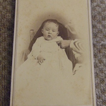 CDV of Baby and hidden mother from Clarksville, TN