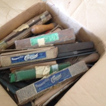 hand file tools, over 100 years old.  Some are still in individual boxes.,   - Tools and Hardware