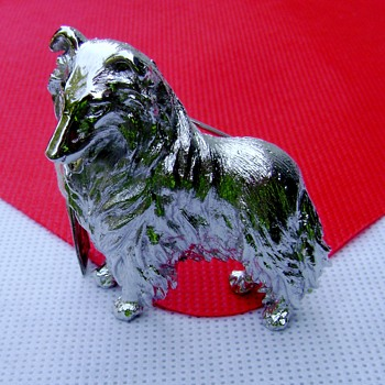 Crown Trifari Dog Brooch - Costume Jewelry