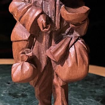 Carved Mahogany 'Vago' or 'Mendigo' -  Wandering / Beggar - Folk Art