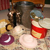 Tin Bucket Full Of Doll Hats
