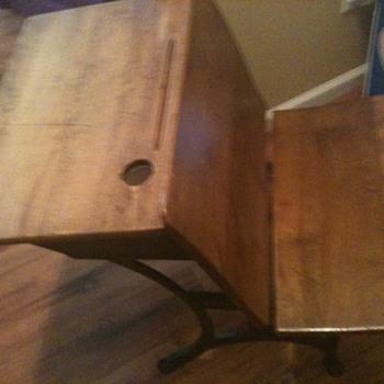 1916 Antique School Desk - Furniture