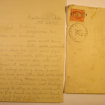 """Grand Ma's """"Pre Proposal"""" Letter To Her Future Husband Oct. 1917"""