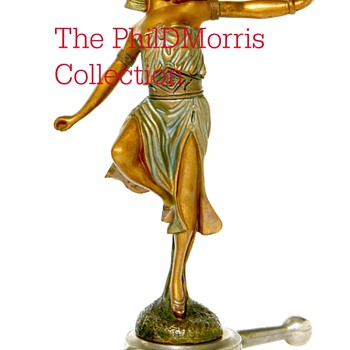 Danseuse Egyptienne, Patinated Bronze Mascot, Signed By Georges Omerth, Art Deco, Circa 1925 - Art Deco