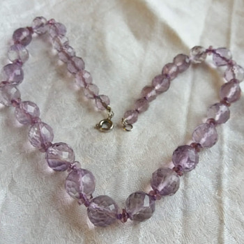 Art Deco Faceted Amethyst Necklace - Art Deco