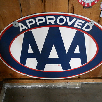 AAA PORCELAIN SIGN--Approved. - Signs