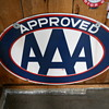 AAA PORCELAIN SIGN--Approved.