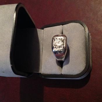 Men's Diamond Ring, Family Jewel,Diamond set in 14kt. White Gold
