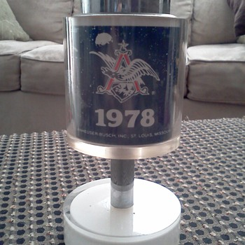 "Super Rare! 1978 Anheuser -Busch ""Race for Space"" Scripto Butane Lighter - Breweriana"
