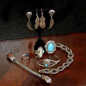 Native American Sterling & Stones Variety - Fine Jewelry