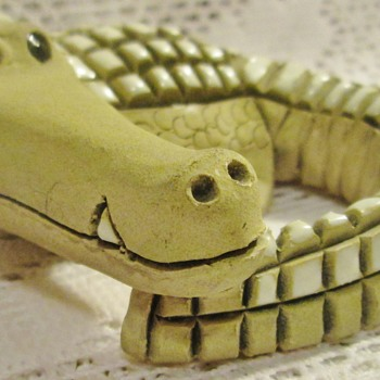 Creepy cute crocodile, yikes!
