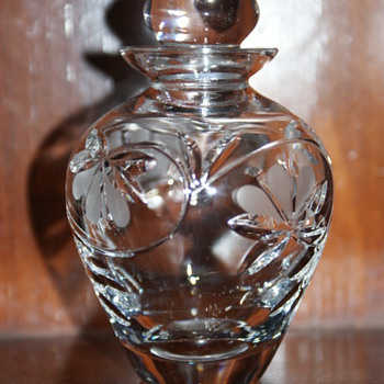 Royal Doulton Crystal Perfume Bottle and Atomizer - Glassware