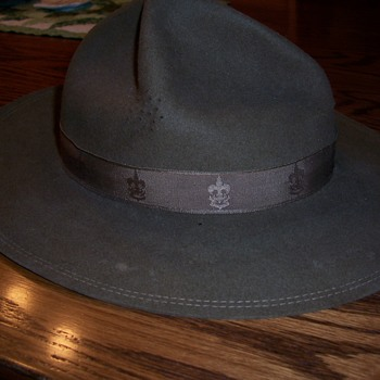 30`s-40`s Boy Scout campaign hat-and met a young man named Trey on recent Florida trip - Hats