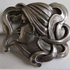 Lovely Art Nouveau Pin 925 Sterling
