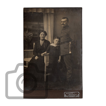 Old photographs collection: family portraits with Art Nouveau furniture - Photographs