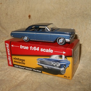 Auto World True 1:64 Scale 1962 Chevy Impala Hardtop - Model Cars