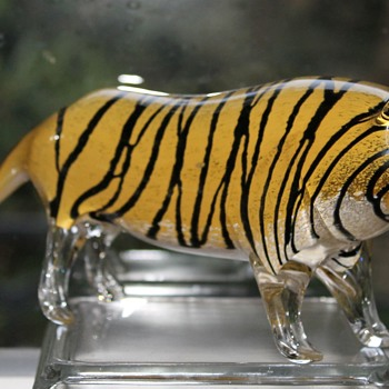 Tyger tyger, burning bright - Art Glass