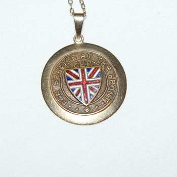 WW1 Medallion for Service at the Front - Military and Wartime