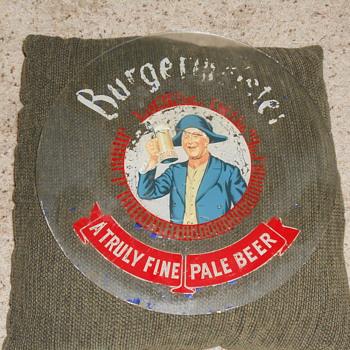 1950's  burgermiester beer sign