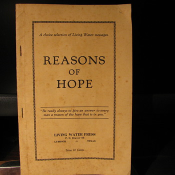 Reasons of Hope 1929 - Paper