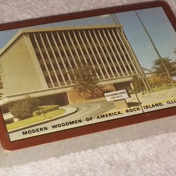 unopened deck of MODERN WOODMEN OF AMERICA playing cards - Cards