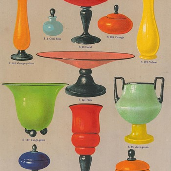 Anton Ruckl & Sons - New information about their Art Deco period glass. - Art Glass