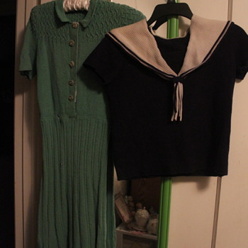 Two of My Favourite 1930s Knitted Garments - Art Deco