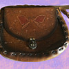 Authentic Leather Bag Decorated AT WOODSTOCK 1969 w. Provenance
