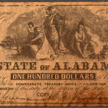 Confederate Currency - Novelty Note (Alabama) - US Paper Money