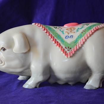 Large Porcelain Pig, Detailed
