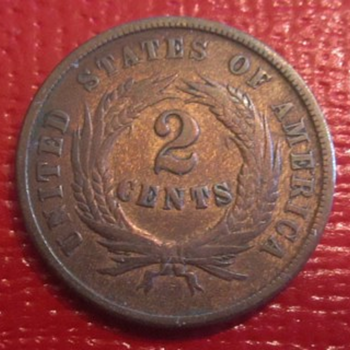 Civil War Copper 2 Cent Piece.