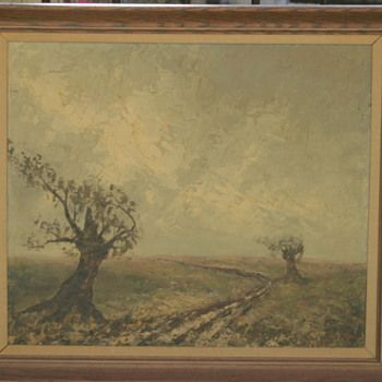 estate find: antique oil painting.......signed by..........? - Fine Art