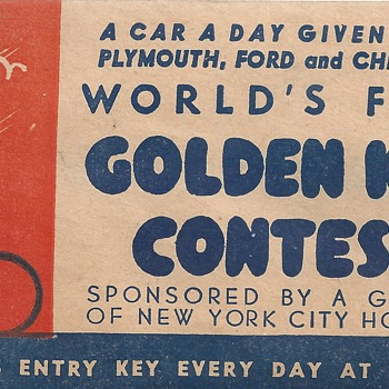 "Golden Key Contest""World's fair 1940""Part 1 - Advertising"