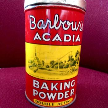 Barbour's Baking Powder Tin - Advertising