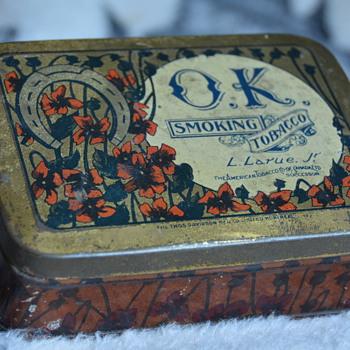 Old O.K. Tobacco Tin From Montreal - Tobacciana