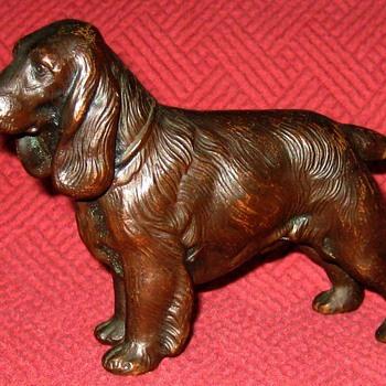 Vintage Copper English Springer Spaniel - Animals