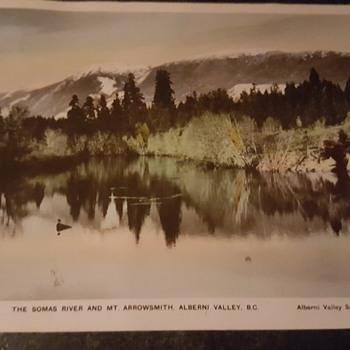 Postcard-The Somas River and Mt. Arrowsmith, Alberni Valley, BC Canada - Postcards