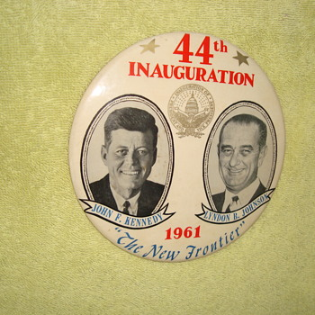 1961 New Frontier Inaugural Button - Medals Pins and Badges