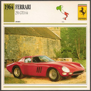 Vintage Car Card - Ferrari 250 GTO - Cards