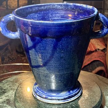 Art Pottery Two-handled Vase signed 'E. Ozol'? - Pottery