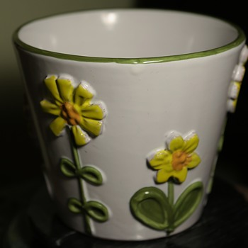 Faience Flower Pot - Italy? Germany? by? - Pottery