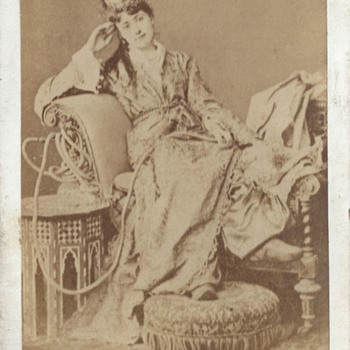 """A Circassian Beauty"" CDV by Uncredited Studio - Photographs"