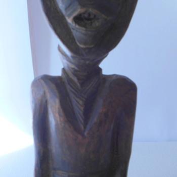Tribal Art? Folk Art Head Scarf Wearing Woman