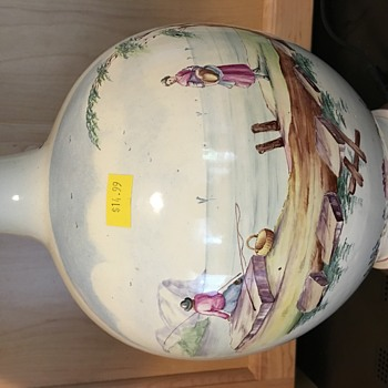 Old hand painted lamp. - China and Dinnerware