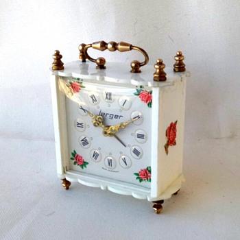 JERGER branded vintage mechanical clock - Clocks