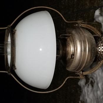 ANTIQUE ANSONIA HARP VICTORIAN HANGING LAMP - Lamps